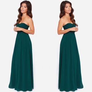 NWT LULU'S Royal Engagement Strapless Maxi Dress